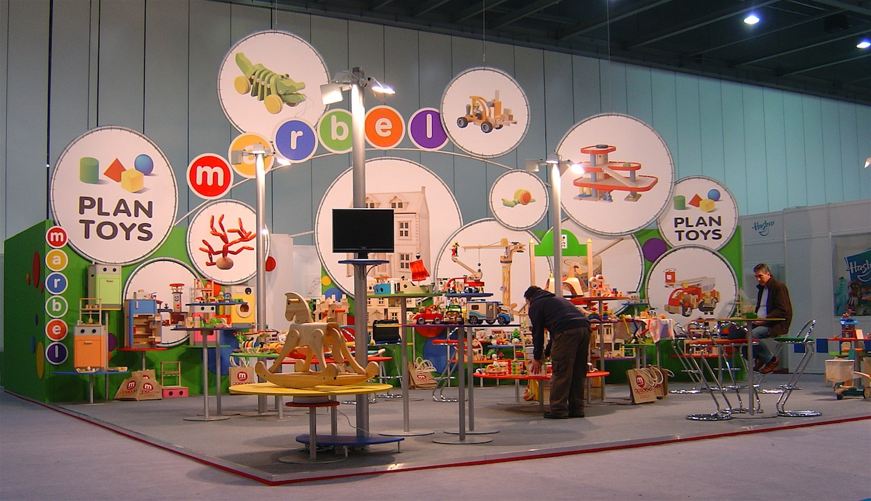 toy fair exhibition stand construction