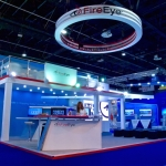 two storey double deck exhibition stand