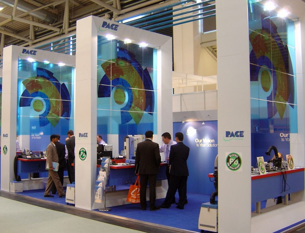 Exhibition stands and booths in Germany, China, USA and UK.