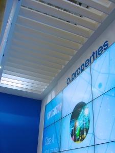 big screen presentation