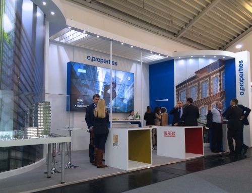Exhibition and augmented reality at ExpoReal property investment in Munich.